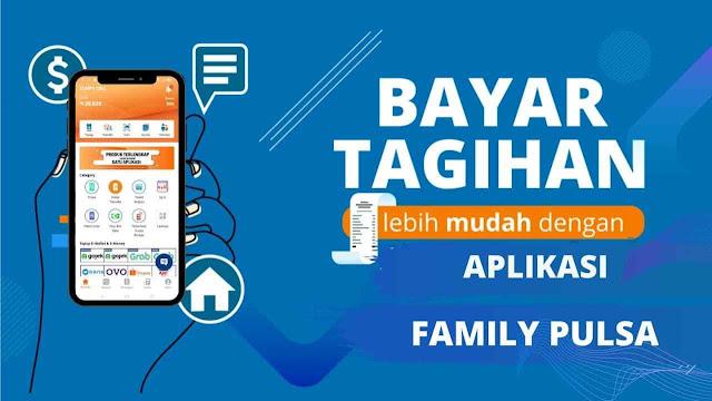 Cara Cek & Bayar Tagihan PPOB PLN, Telkom, BPJS Kesehatan dll di Family Pulsa