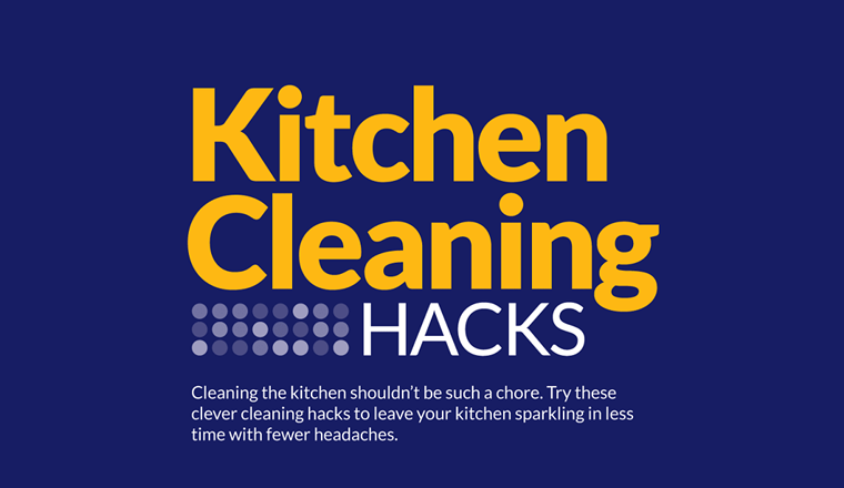 Kitchen Cleaning Hacks #infographic