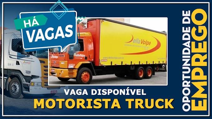 Transportadora Della Volpe abre vagas para Motorista Truck Salário:  R$ 4.200,00