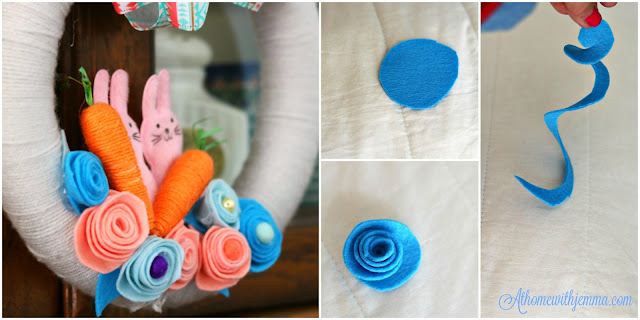 felt, flower, handmade, maker, craft, diy, holiday, seasonal, decor, Easter, athomewithjemma.com
