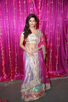 Ritika Sing in Golden Pink Choli Ghagra Cute Actress Ritika Sing ~  014.JPG