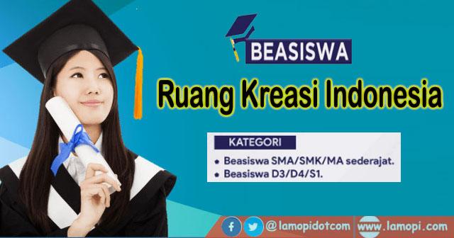 Beasiswa Ruang Kreasi Indonesia 2021
