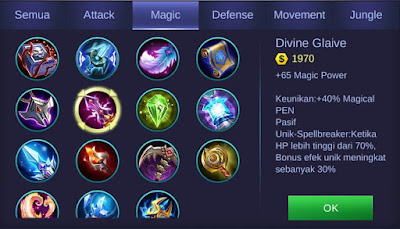 Divine Glaive Mobile Legends