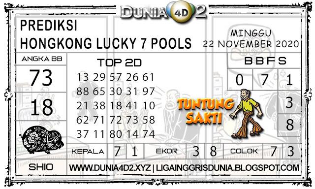 Prediksi Togel HONGKONG LUCKY7 DUNIA4D2 22 NOVEMBER 2020