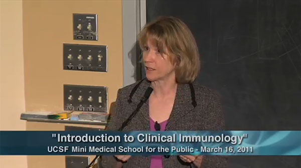 YouTube lecture on clinical immunology  by Professor Katherine Gundling (Source: Katherine Gundling, UCSF