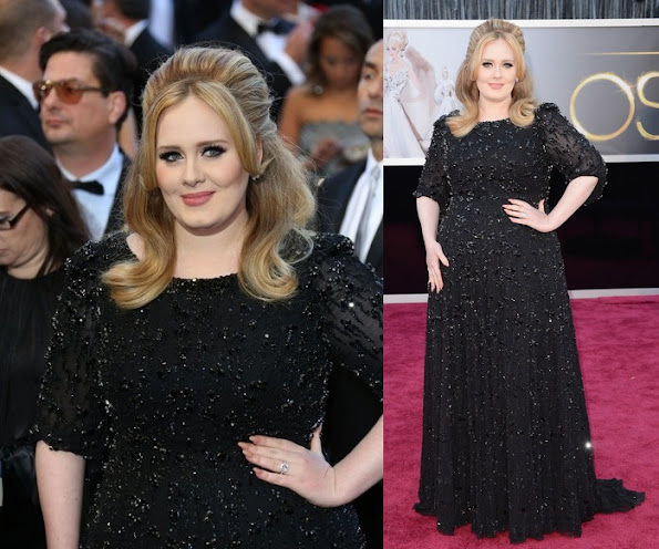 English singer and songwriter Adele wears Jenny Packham Dress- 2013 Oscars Ceremony