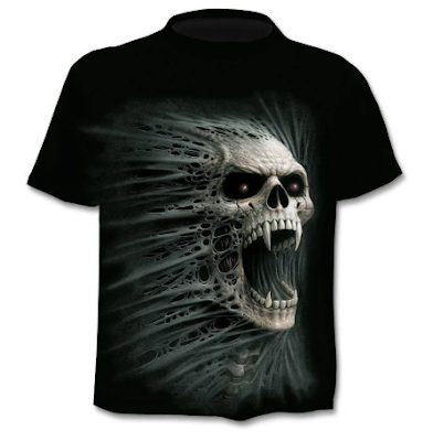 ZOOTOP BEAR Men's 2019 New 3D Skull T-Shirt