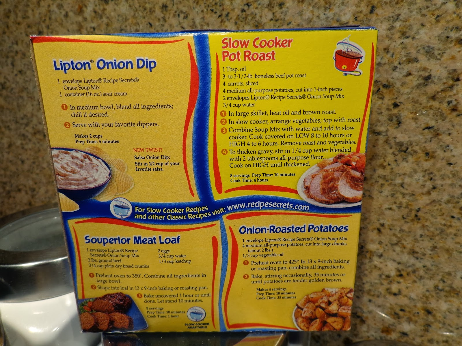 Chuck Roast With Onion Soup Mix Recipe