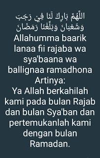 do'a bulan Rajab