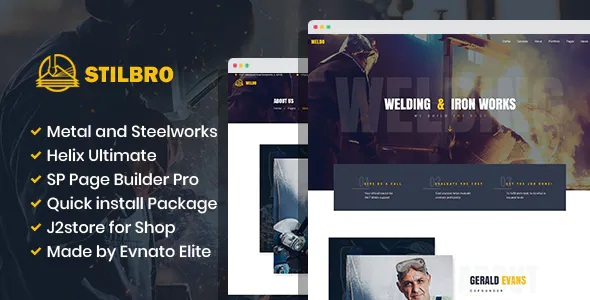 Best Metal and Steelworks Company Joomla Template