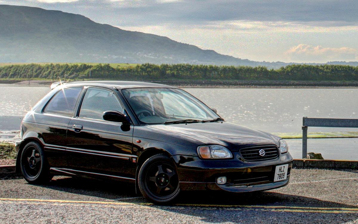 Suzuki Baleno, GTi, tuning, szybki hachback, japońskie samochody z lat 90