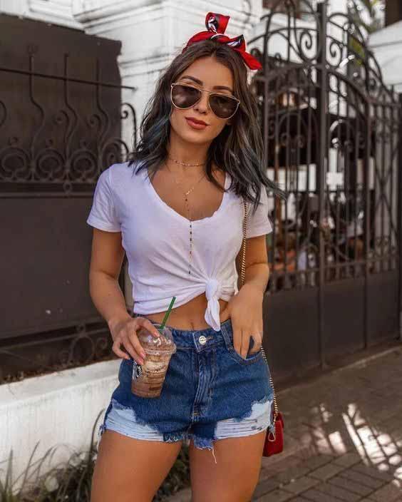 10 looks estilosos com short jeans