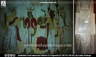 The oldest line drawings and wood carvings in Mulkirigala