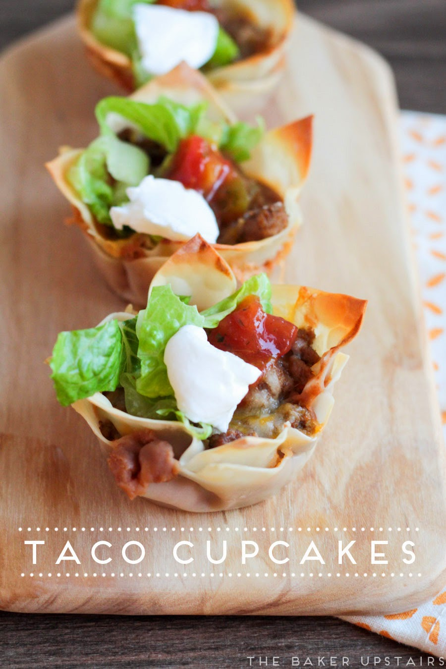 These taco cupcakes are a fun twist on traditional tacos, and irresistibly delicious!