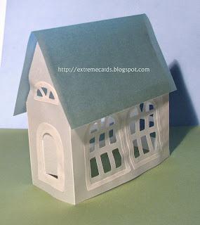 3d vellum paper house