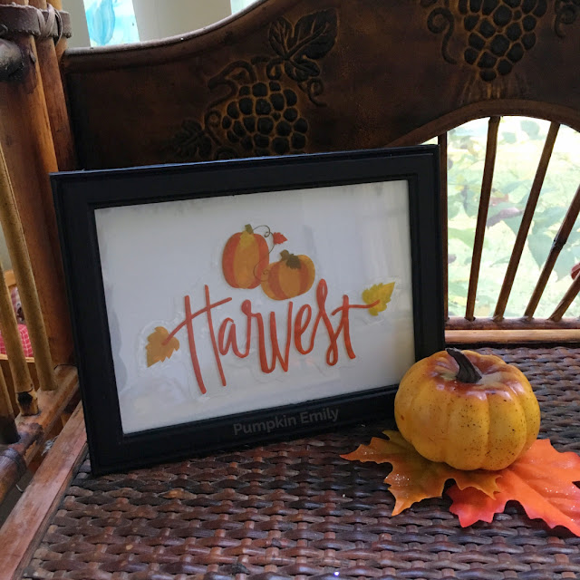 DIY Fall Frame Art Made with Window Cling