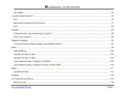 Aplastando los Microlímites table of contents 3