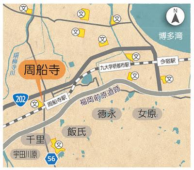 福岡市西区 今宿~周船寺の簡易地図