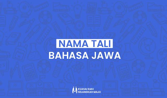 Arane Tali Bahasa Jawa