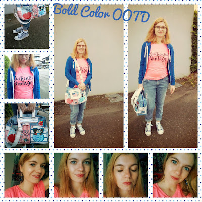 bold color ootd outfit post