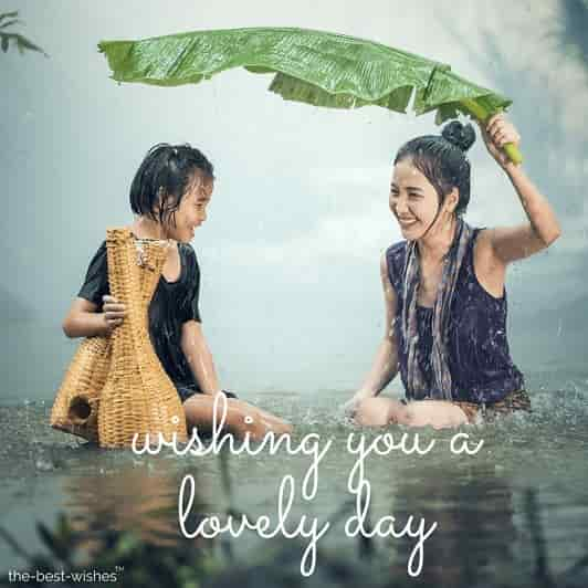 good morning nature with rainy images