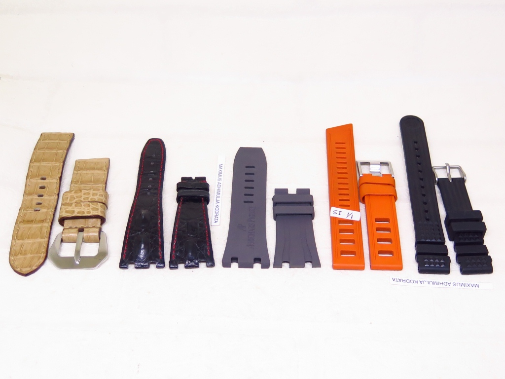 8 - STRAPS GENUINE LEATHER AND RUBBER WAFFLE STRAP 24MM 29MM 30MM 20MM
