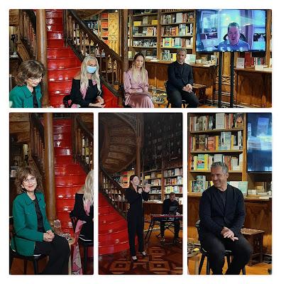 Pilar Del Río, Aurora Pinto, jornalista, José Luis Peixoto, D.W. Pine e Sofia Escobar