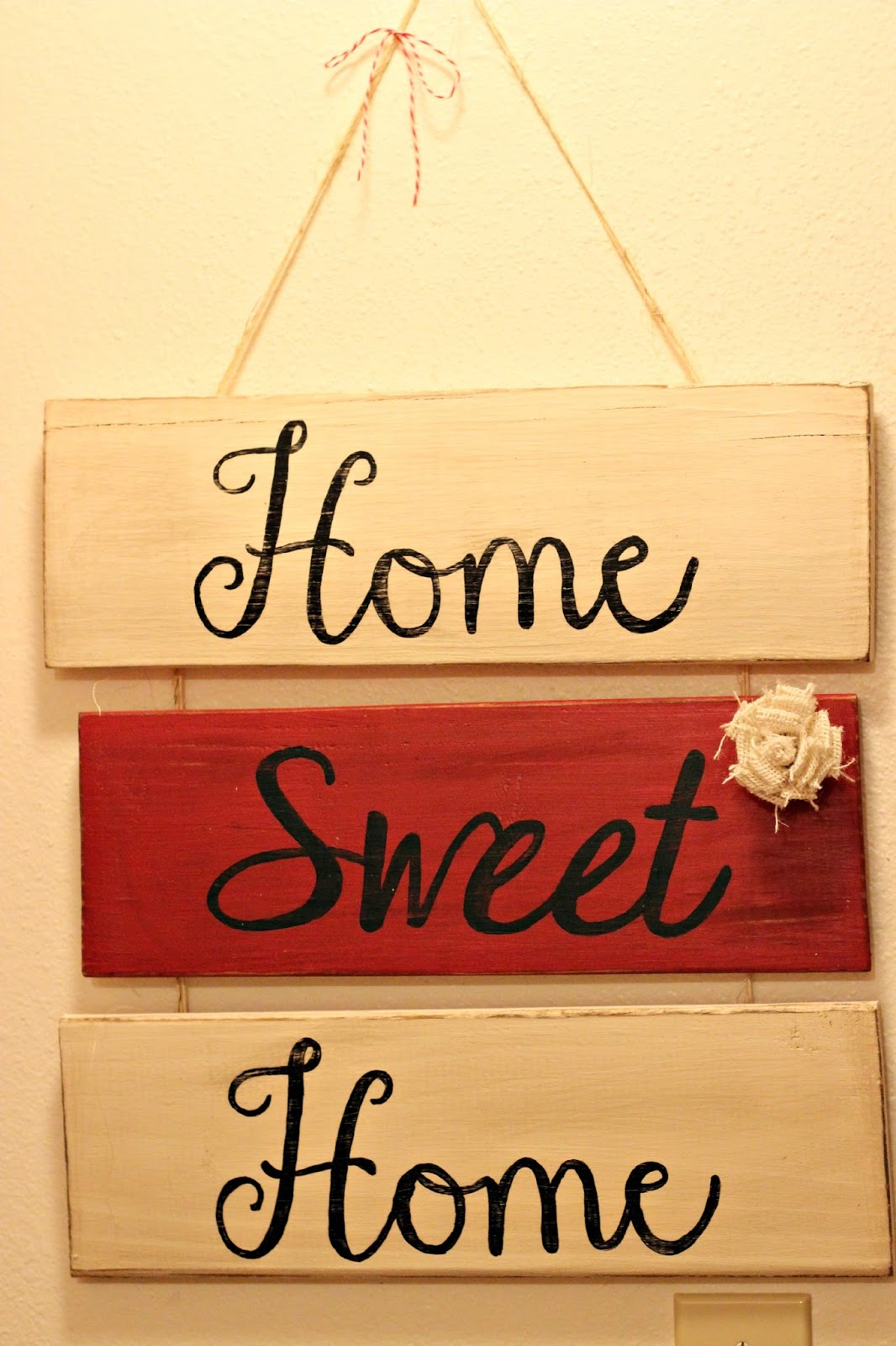 The Sassy Homemaker: Home Sweet Home wooden sign