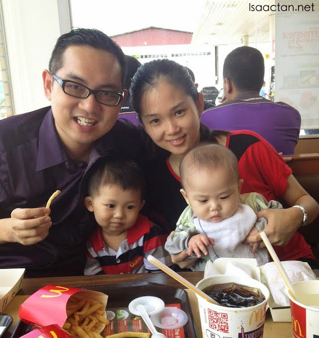 I took the chance to bring my family along for a McD meal