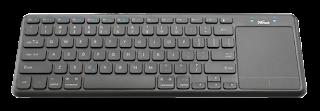 trust 22574 mini tastiera multimediale bluetotoh touchpad mouse
