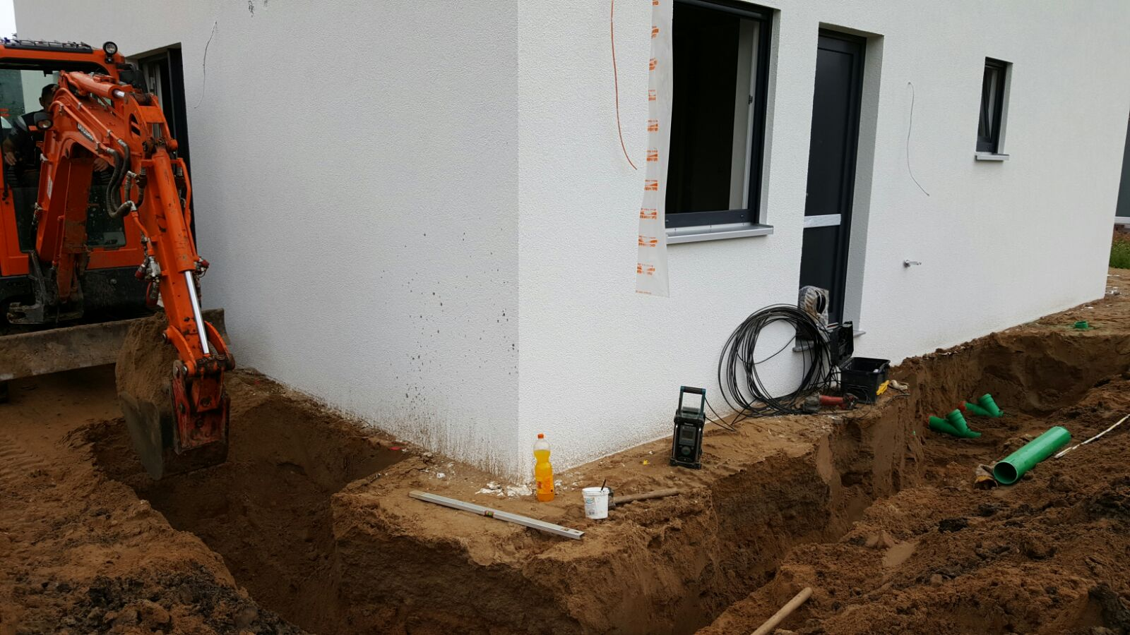 Plan Für Das Verlegen Von Stromleitungen