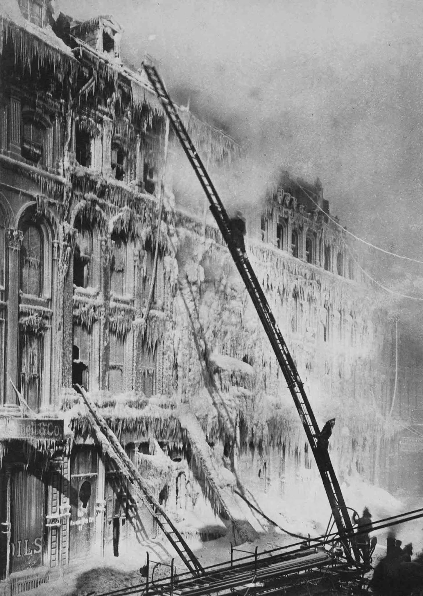 firefighters winter historical photos