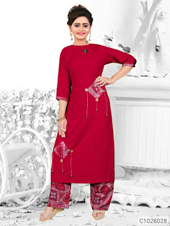 Trendy Rayon Patch Work Palazzo Sets