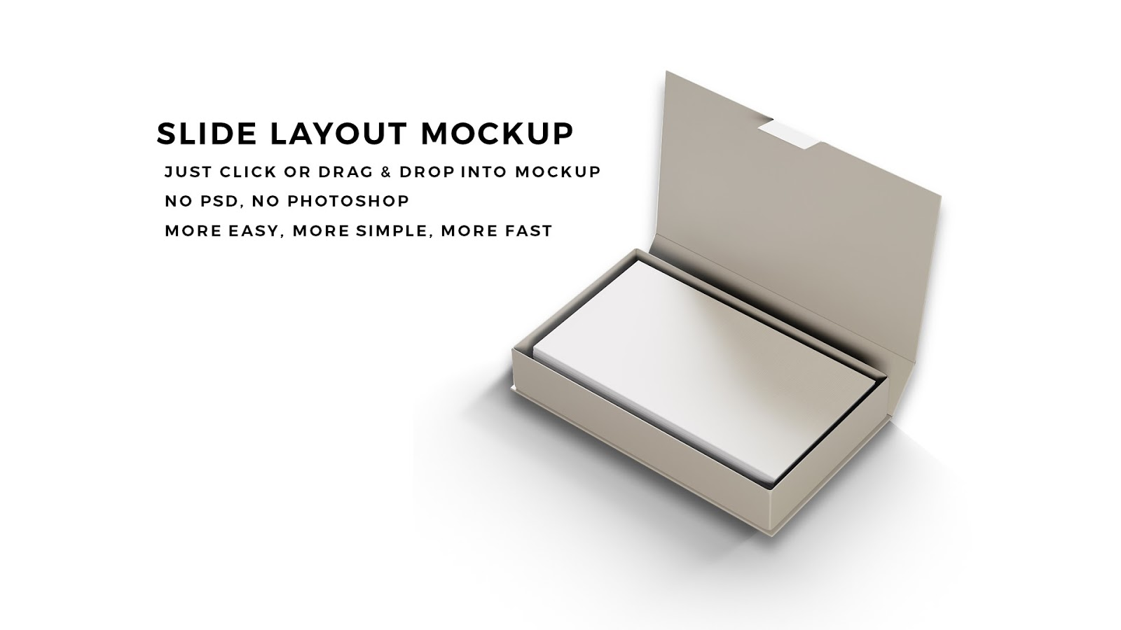 free powerpoint template with business card presentation mockup infographicon premium and. Black Bedroom Furniture Sets. Home Design Ideas