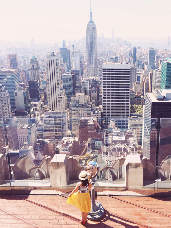Top of the Rock: Want to know where the most Instagrammable places in NYC are? This handy guide will help you find all the best NYC photo spots so that you can snap all those picture-perfect travel photos! This is a must for any trip to help you find all the best New York City photography locations. #nyc #nyctravel #newyork #newyorkcity #newyorktravel
