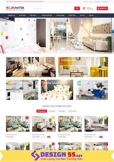 Template blogspot bán hàng nội thất hiện đại VSM18