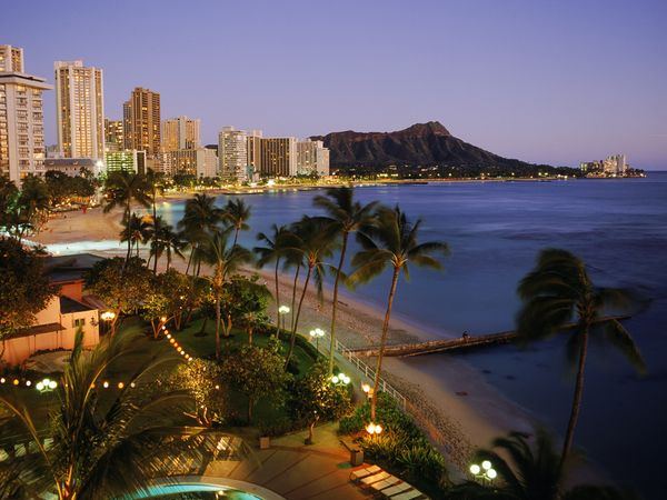 روعة المدن الساحلية beach-waikiki-hawaii