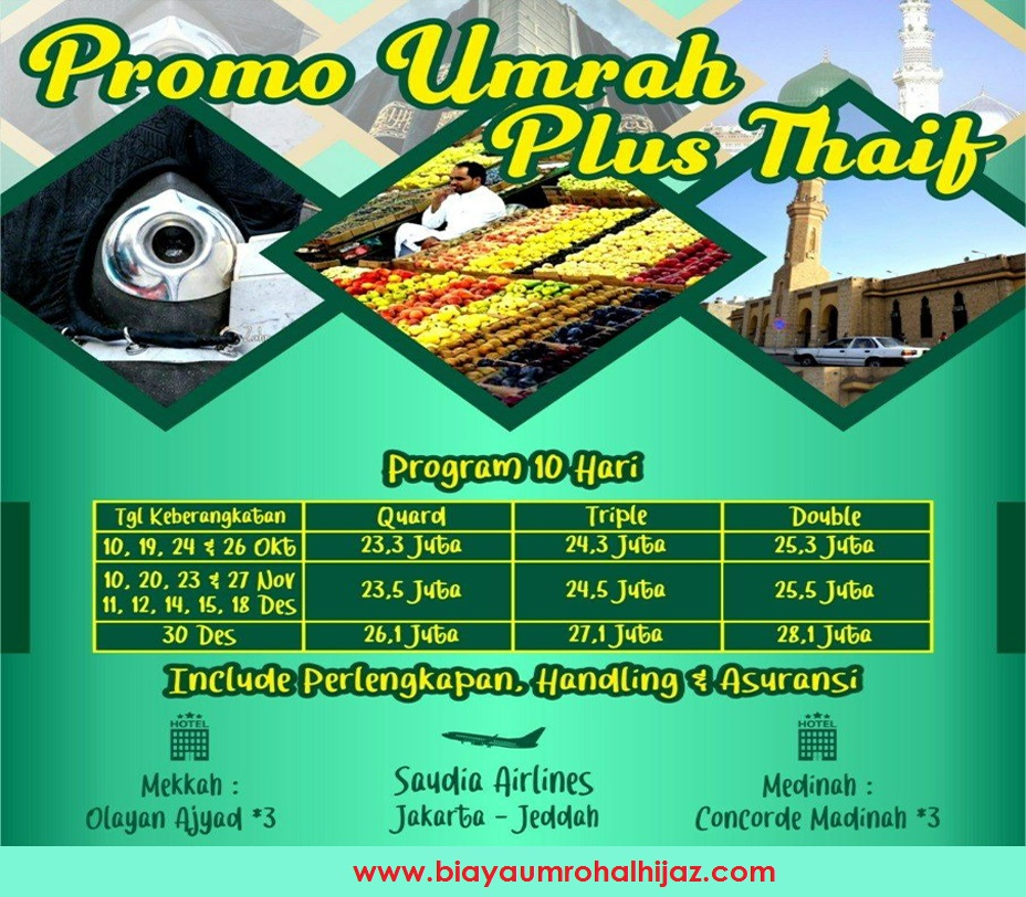 Travel Alhijaz Promo Thaif 2019