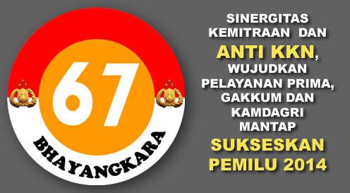 Download logo HUT BHAYANGKARA ke 67 | Senkom Mitra Polri Kecamatan Balongbendo