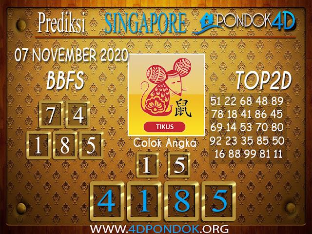Prediksi Togel SINGAPORE PONDOK4D 07 NOVEMBER 2020