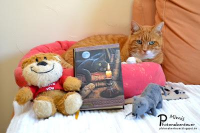 Katze Mimi stellt das Katzenbloggerbuch vor