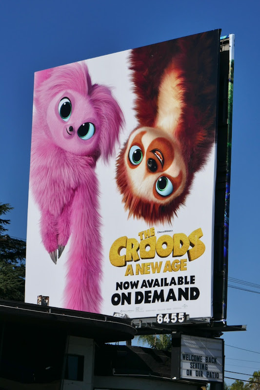 Croods A New Age sloths billboard