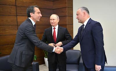 Vladimir Putin, Christian Kern, Igor Dodon.