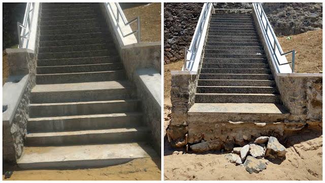 Escada de acesso à Praia da Paciência  foi concluída