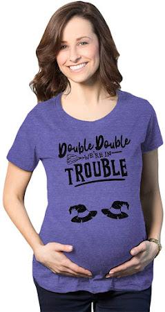 Cheap Funny Twin Maternity T-Shirts