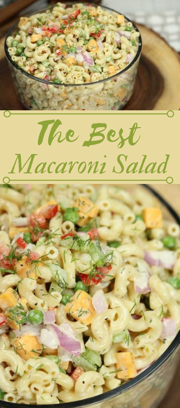 EASY MACARONI SALAD RECIPE #healthy #recipes #easy #salad #diet