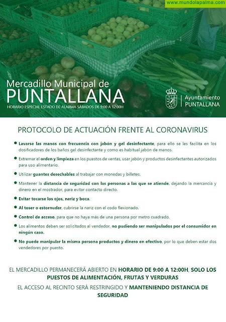 Mercadillo Municipal de Puntallana abre mañana sábado