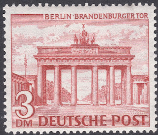 Germany Issue Of 1949 - Brandenburg Gate