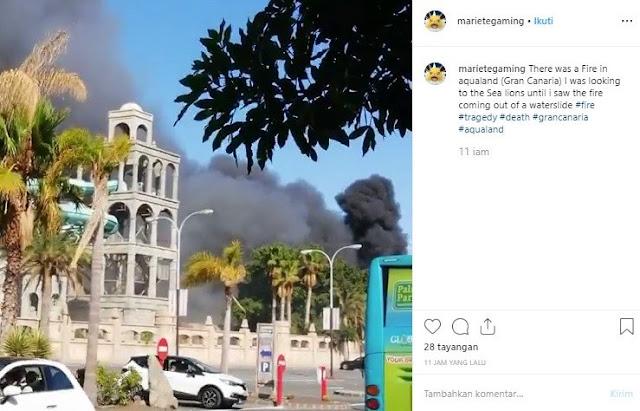 Sebuah Taman Wisata Air Di Spanyol Mengalami Kebakaran
