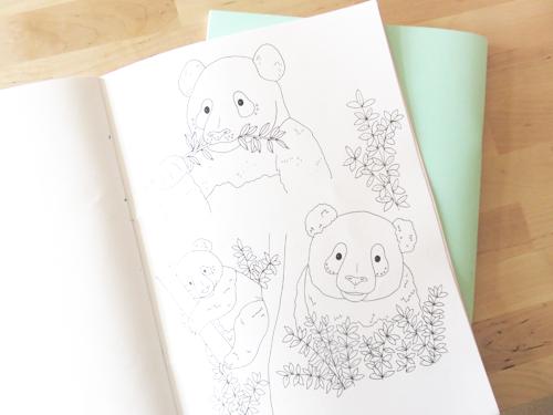 Emma Margaret Illustration Sketchbook 2016 Pandas